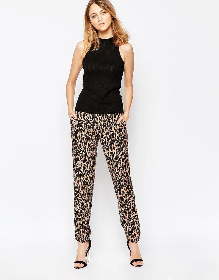Ganni+Leopard+Print+Trousers