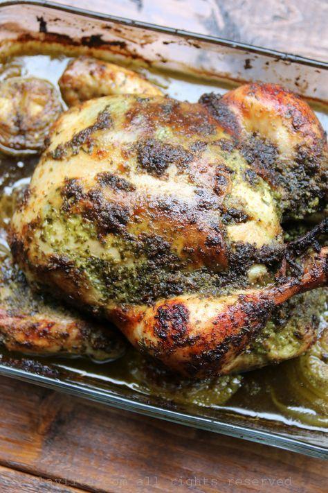 Pollo al chimichurri ,.-  ASAR ENTERO O EMPRESAS VERSION ECUADOR. http://laylita.com/recetas/2014/09/05/pollo-asado-al-chimichurri/