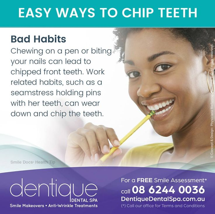 #HealthyTip — EASY WAYS TO CHIP TEETH / For a Free Smile Assessment*, please call 08 6244 0036 - www.dentiquedentalspa.com.au / (*) Please call our office for Terms & Conditions. #SmileDocs #SmileDeals #drfurlan #dentiquedentalspa #dental #practice #cosmetic #tmj #invisalign #whitening #filler #dentist #anti #wrinkle #skincare #dermal #lip #fillers #porcelain #crowns #veneers #implants #clear #braces #teeth #treatments #chemical #peels