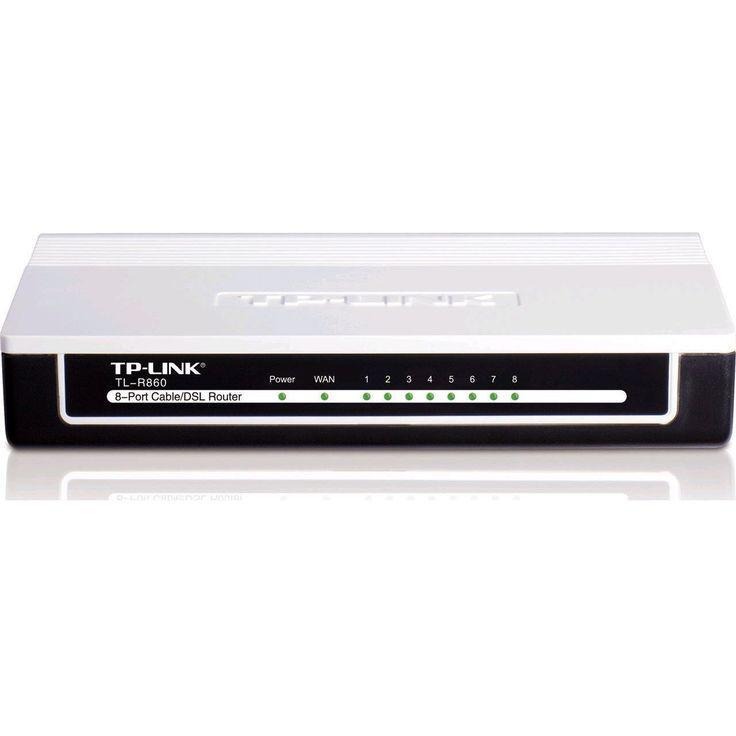 TP-LINK TL-R860 Advanced 8-Port Cable/DSL Router 1 WAN Port 8 LAN Ports