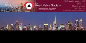 뉴욕  미국 심장판막학 회의 HVS 2016 Annual Meeting of the Heart Valve Society