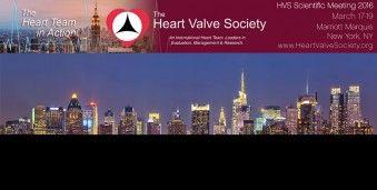 뉴욕  미국 심장판막학 회의 HVS 2016 Annual Meeting of the Heart Valve Society