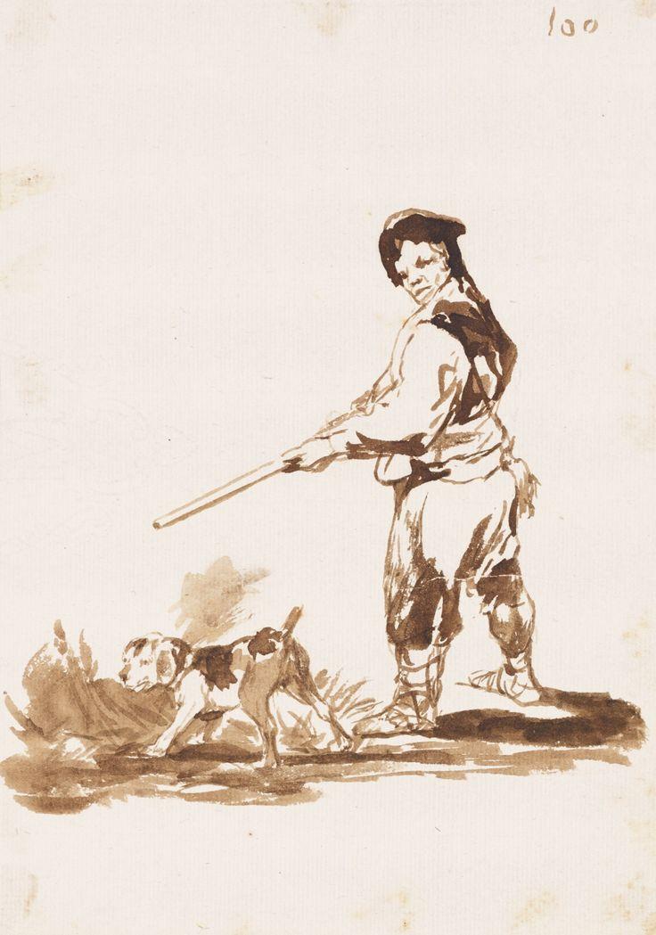 Francisco de Goya 1746 - 1828 HUNTER AND HIS DOG ON THE ALERT
