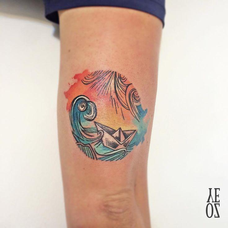 pin sonnenuntergang meer tattoos - photo #27