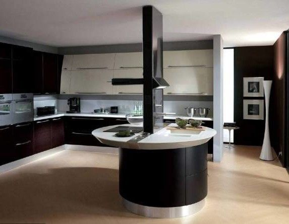 Kitchen Ultra Contemporary Kitchen Island Design Modern Modular Open Kitchen  Black Set Cabinet Furniture Ideas Popular