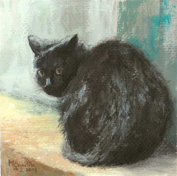 Cat on a Cold Day,  Fine Art GICLEE PRINT after an original painting by Milena Gawlik