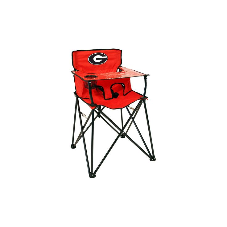 ciao! baby University of Georgia Bulldogs Portable High Chair in Red,