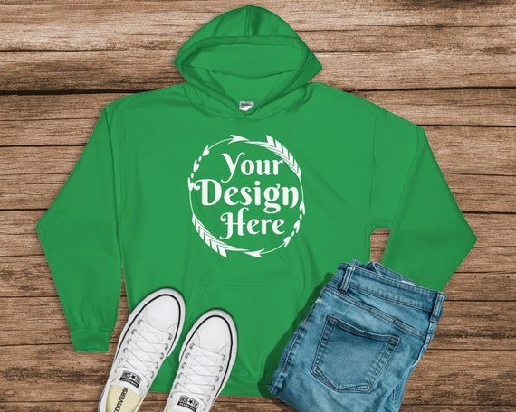 Download Download Free Gildan 18500 Hooded Sweat Shirt Brand Irish Green Hoodie Mockup Psd Free Psd Mockups Shirt Mockup Hoodie Mockup Free Packaging Mockup