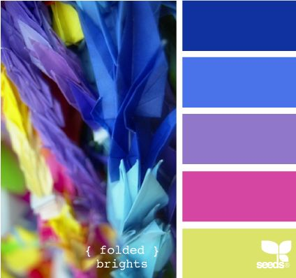 .: Colors Combos, Folding Bright, Design Seeds, Bright And Colors Rooms, Bright Colors Design, Colors Combinations, Colors Schemes, Colour Palettes, Bright Colors Palettes