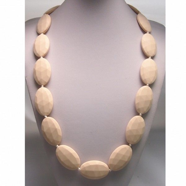 Creamy White Seed Food Grade Silicon Teething Necklace