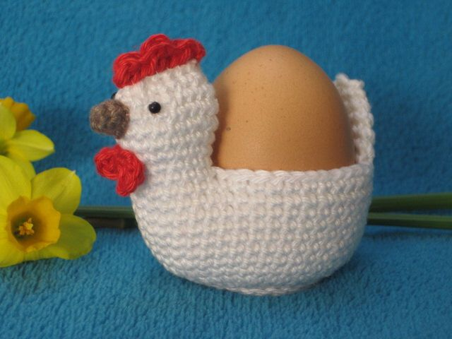 Chicken Egg Holder Cosy Spring Amigurumi PDF Crochet Pattern