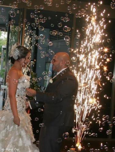 Bubbles & Pyro   Wedding Fireworks by Pyro Oz