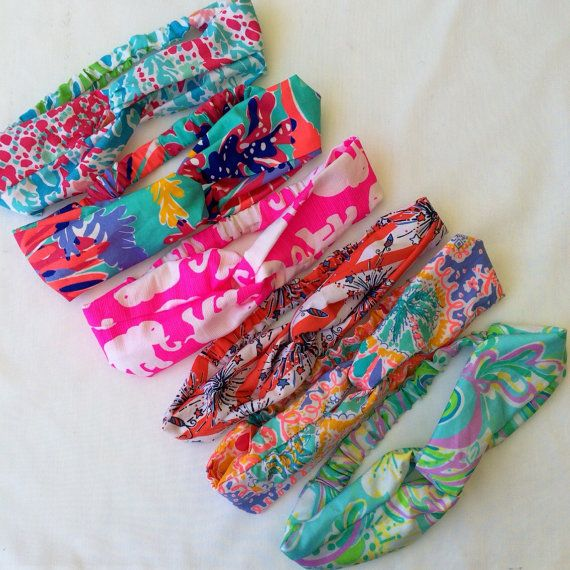 Lilly Pulitzer Turban Headbands by FabricBowsforDays on Etsy