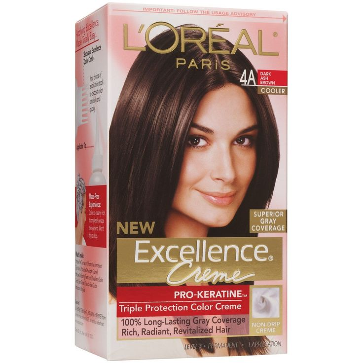 L'Oreal Paris Excellence Creme Haircolor, Dark Ash Brown [4A] (Cooler) 1 ea (Pack of 3) ** Read more details by clicking on the image. #hairandmakeup