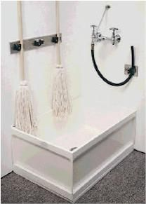 Great idea for disinfecting the mops every night