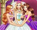 Em Princesa Barbie Noiva Fashion, Barbie está prestes a se casar e você vai ajudá-la a escolher o vestido de casamento mais glamoroso de todos. Junte-se a ela e suas damas de honra e escolha o mais fabuloso vestido de noiva para que a Princesa Barbie seja a noiva mais fashion de todas. Divirta-se com a Barbie!