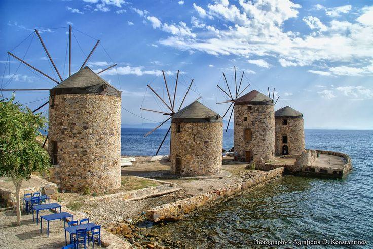 Ανεμόμυλοι Χίος - Windmills Chios - Greece - Hellas