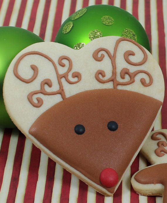 Rudolph cookies by Bakinginheels on Etsy