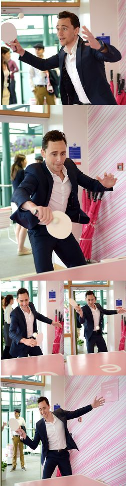 Tom Hiddleston plays table tennis. And the world swoons.