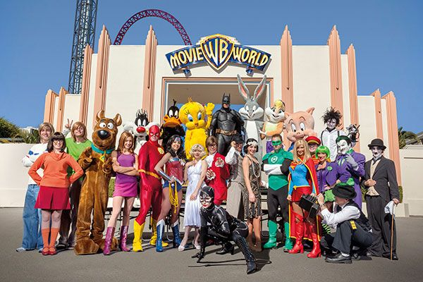 All your favourite characters are waiting for you at Warner Brothers Movie World, Gold Coast