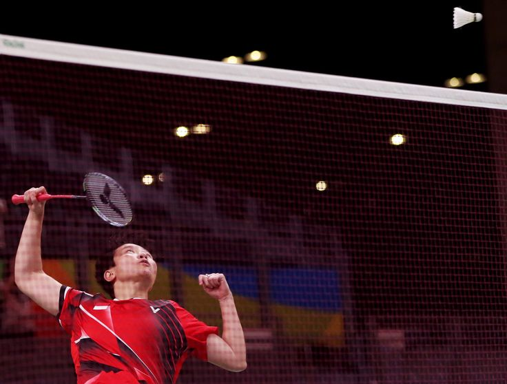 Liliyana Natsir of Indonesia playing against a Malaysian team in the mixed doubles badminton final. Natsir and her partner, Tontowi Ahmad, took home the gold medal.     Esteban Biba/European Pressphoto Agency