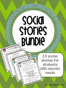 Social Stories Bundle! Including stories for Fire Drill, Asking someone to Play, Lunch, Working in Groups, Safe Body, and many more!