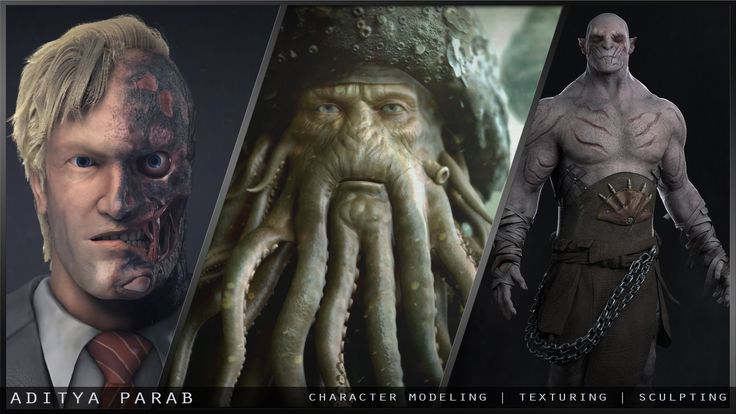 Aditya Parab - Character Modeling and Texturing Showreel 2014