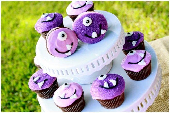 Lieve griezel monster cupcakes