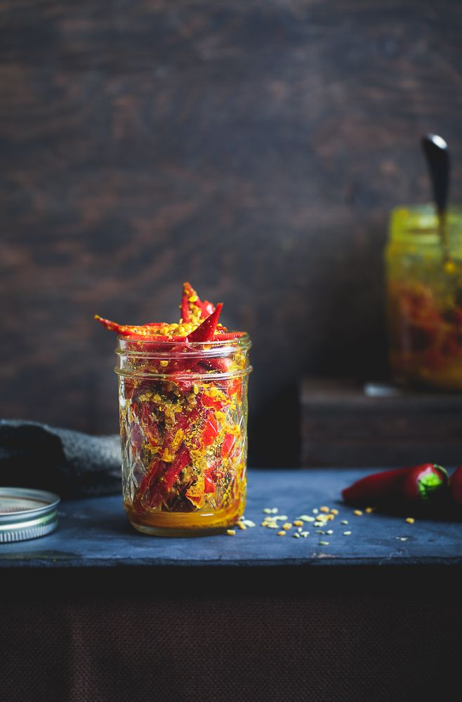 Sinfully Spicy - Laal Mirch Ka Achaar, Pickled Red Chili Peppers #indian