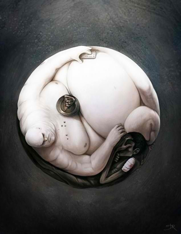 The yin and yang of hunger.