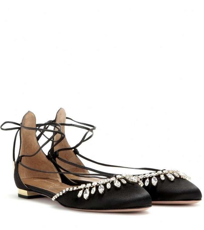 Zapatos de lujo para novias: ideas diseños - Bailarina de Aquazzura
