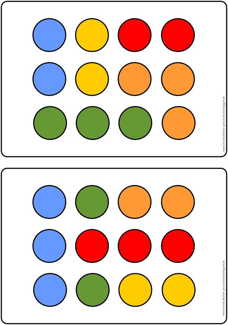 hier jetzt der letzte Schwierigkeitsgrad für das Gedächtnistraining rund um das Merken von Punkten mit fünf Farben und ohne leicht erke...