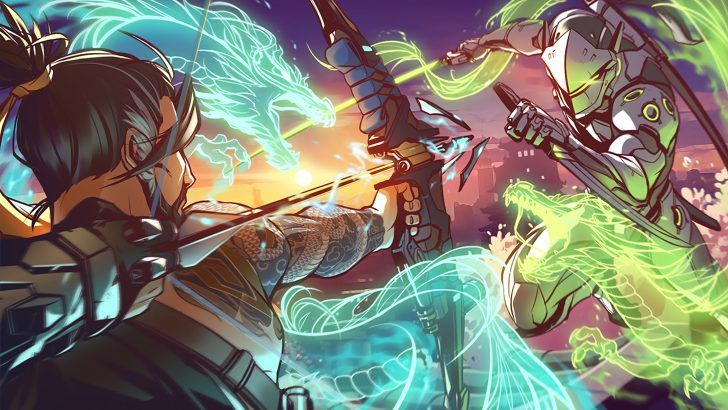 Download Hanzo vs Genji Wallpaper Overwatch Art Lifelessmech 3840x2160