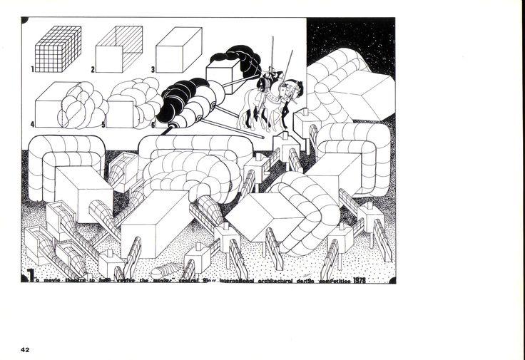 1978 THEATER_TOKIO.1_carta da lucido cm. 60 x 80_by Brunetto De Batté & Giovanna Santinolli
