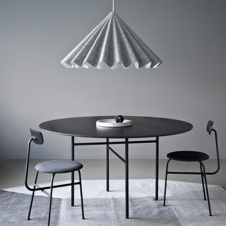 Menu   Snaregade Tisch, Ø 120 Cm / Schwarz Furniert