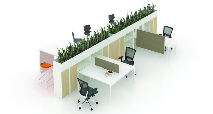Lm Bench Planters