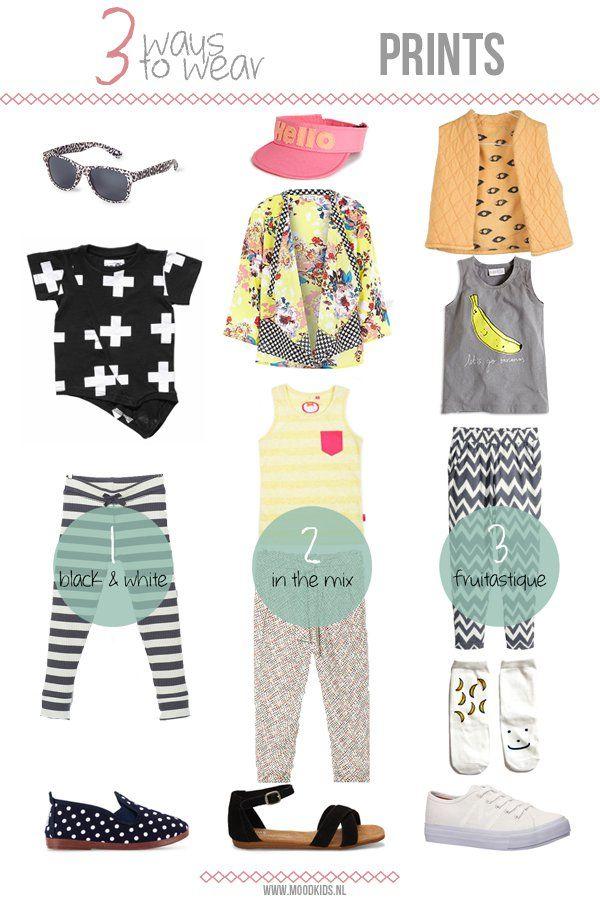 3 ways to wear... PRINTS. #girls #doctorfashion #moodkids http://www.moodkids.nl/trend/fashion-trend/2015/06/24/hoe-combineer-je-prints