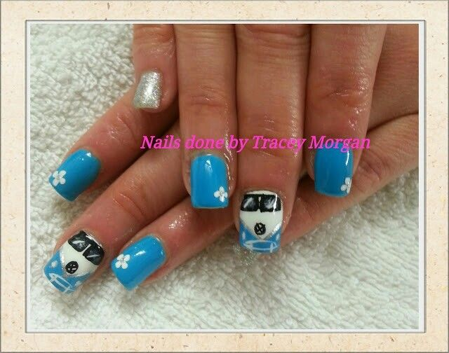 V wagon nail design by hand