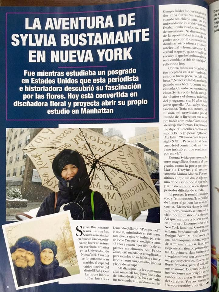 My adventure in New York published by the Chilean version of Hello! Thank you so much dear Andrea Vergara Eluchans!  By Sylvia Bustamante Gubbins :Mi aventura en Nueva York publicada en la revista Hola! de Chile. Gracias querida Andrea!!