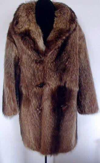 Raccoon fur Coat. Men.