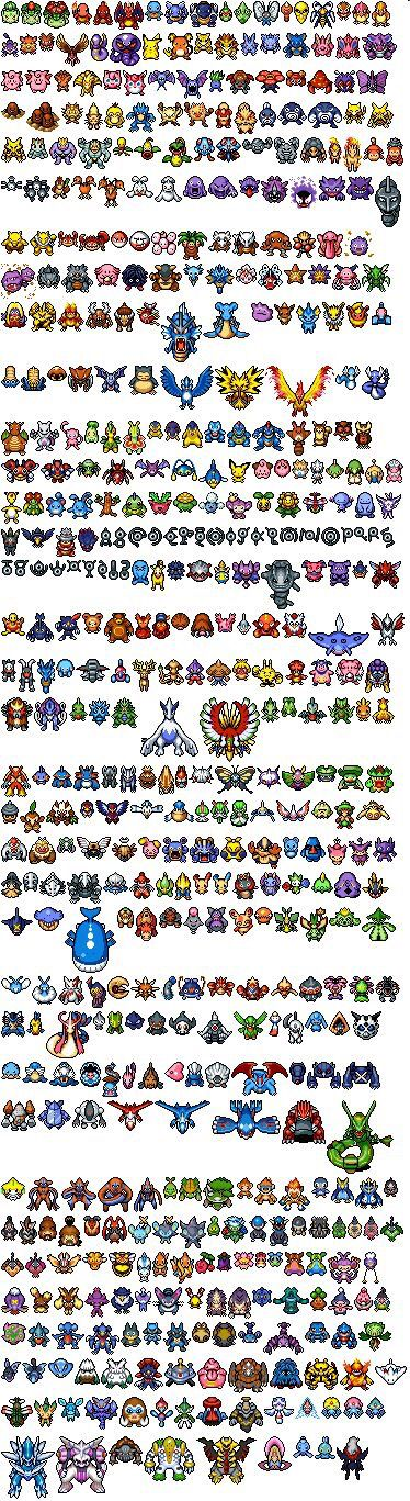 All Pokémon in the pokedex