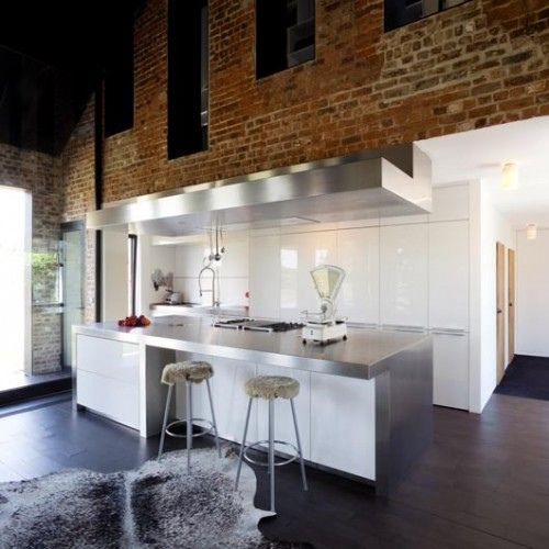 brickwall and modern kitchen