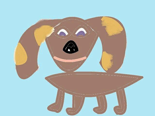 hond getekend