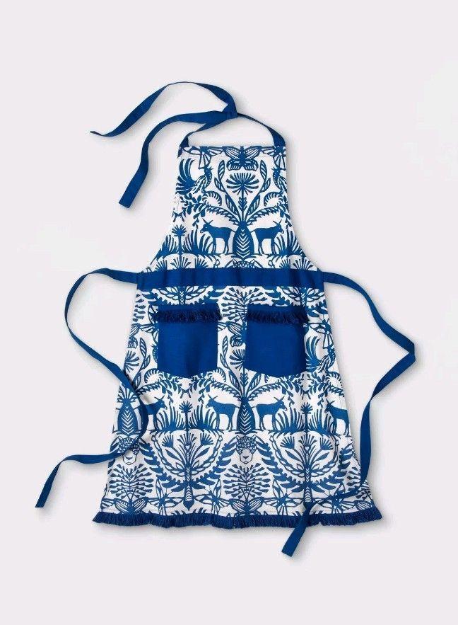 Womenu0027s OPALHOUSE Cotton APRON Blue Eulalia Fringed Boho Target NEW  #OPALHOUSETarget