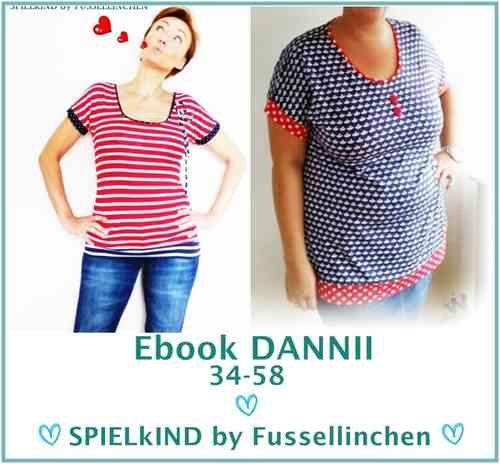 Freebook Shirt/Dress/Longshirt DANNII 34-58