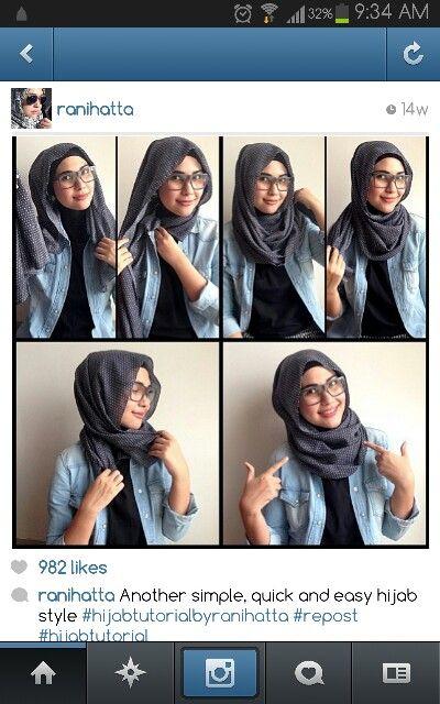 Ranihatta easy no pins hijab tutorial