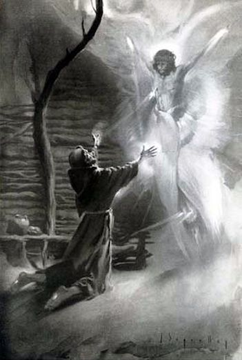St. Francis bore the wounds of Christ.