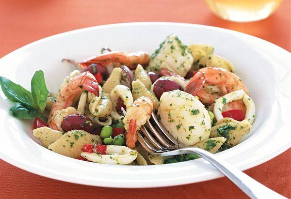 Seafood Pesto PastaFun Recipe, Seafood Pasta, Shrimp Pasta, Dinner Time, Pesto Pasta, Seafood Pesto, Pasta Recipe, Sunday Dinner, Healthy Seafood