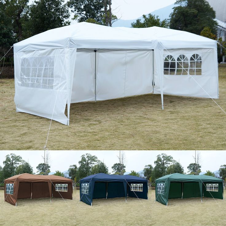 10'X20' EZ POP UP Tent Gazebo Wedding Party Folding Canopy Carry Bag Cross-Bar #GOPLUS $120.00