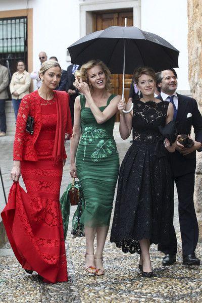 Eva Herzigova attends the wedding of Lady Charlotte Wellesley and Alejandro Santo Domingo at Illora on May 28, 2016 in Granada, Spain.